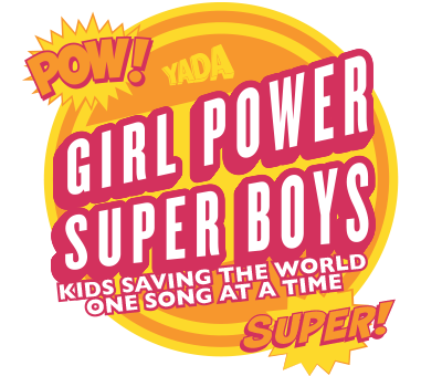 Girl Power & Super Boys badge