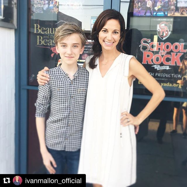 When School of Rock comes to see School of Rock 🤘 #Repost @ivanmallon_official Mullins and Clark at a Youth Academy of Dramatic Arts musical to see @jamawilliamson kids perform. A fantastic show!