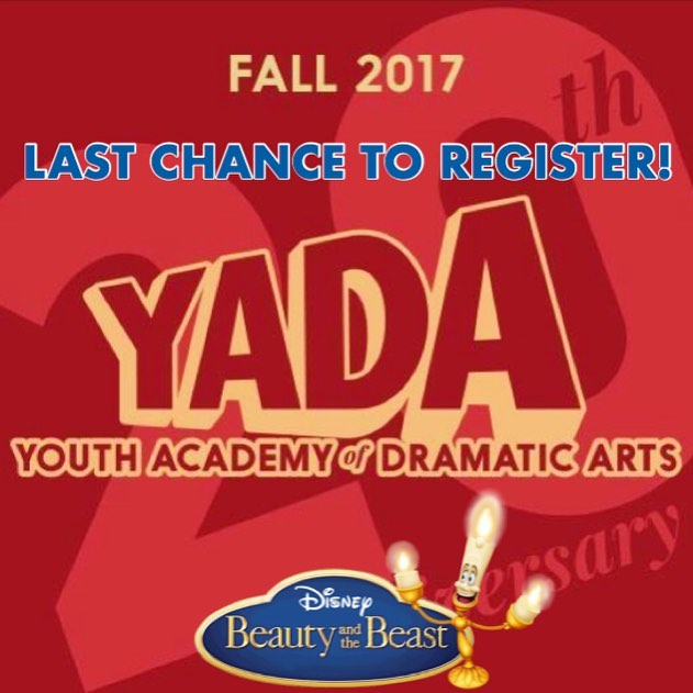 ️The Fall show is about to start!! This is your last chance to register, we can't wait to see you again!!! #beautyandthebeast #YADArocks