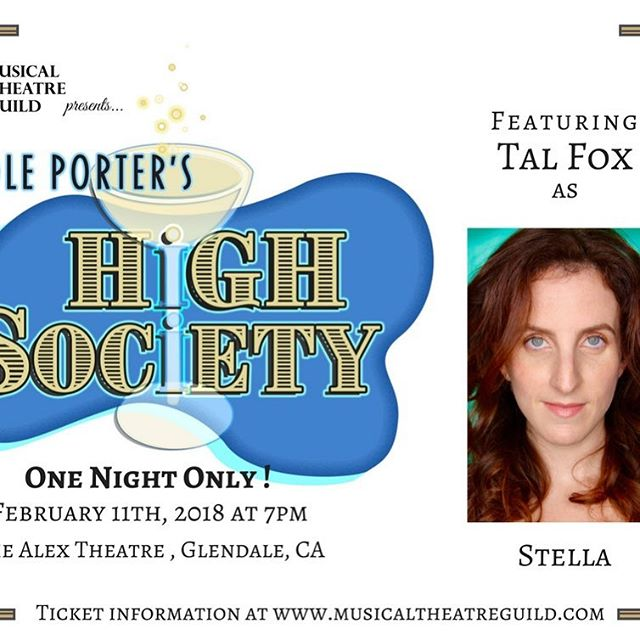 YADA's awesome director, Tal Fox, will be performing in Musical Theatre Guild's One Night Only Staged Reading of Cole Porter's HIGH SOCIETY. It's Sunday, Feb. 11th at 7:00 PM at The Alex Theatre in Glendale.  For tickets:  Goldstar: https://www.goldstar.com/shows/1431656/checkout/new TodayTix: https://www.todaytix.com/x/los-ange…/shows/7219-high-society  www.musicaltheatreguild.com or www.alextheatre.org @talmorningdew