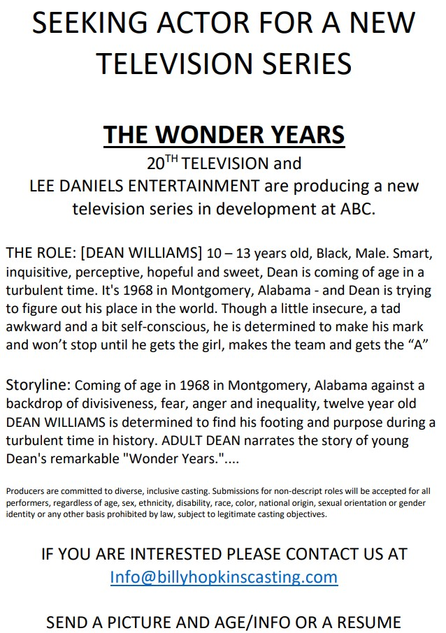 The Wonder Years Casting