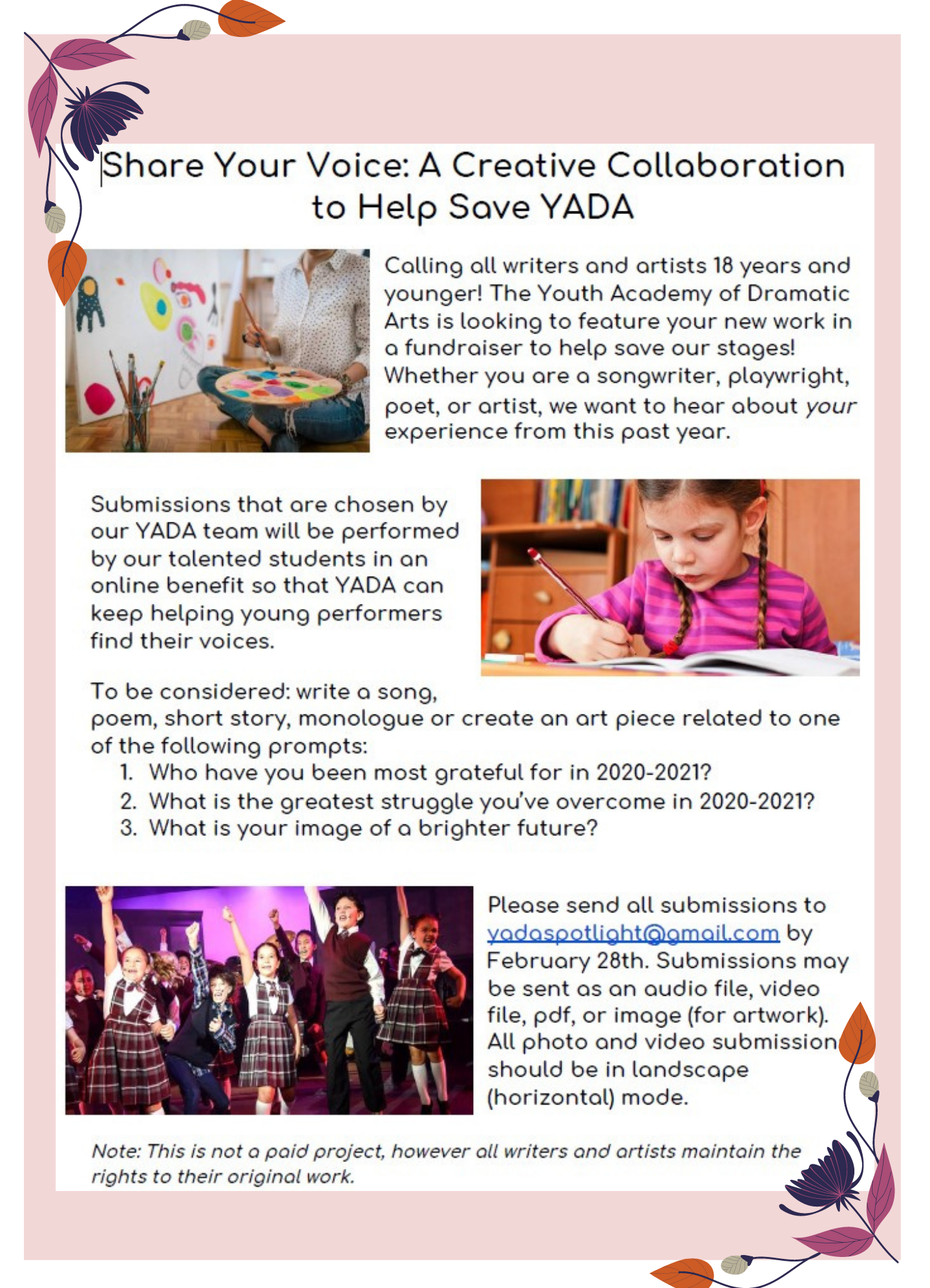 Share Your Voice_ A Creative Collaboration to Help Save YADA 2021