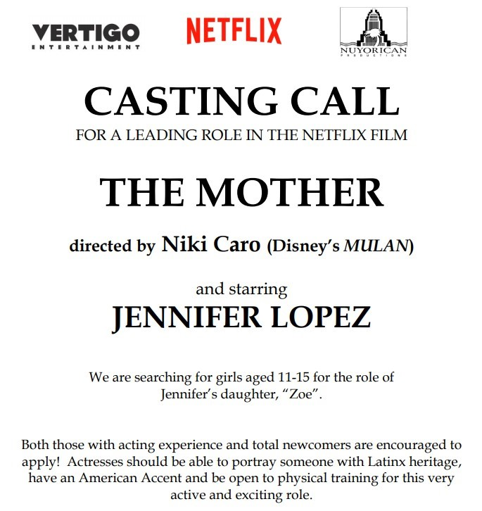 Netflix Casting Call The Mother