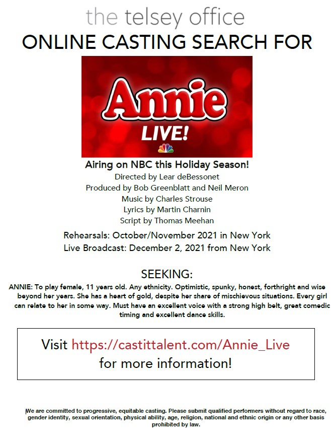 Annie Live Auditions