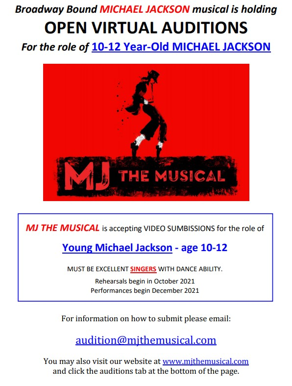 MJ the musical auditions
